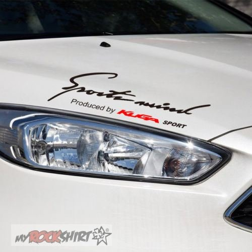 myrockshirt Kompatibel mit Sport Mind Ford Kuga 30 cm Aufkleber,Sticker
