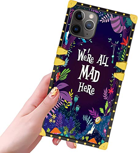 DISNEY COLLECTION iPhone 11 Pro Max Case for Women Girls Alice in Wonderland Pattern Design Glitter Luxury Slim Shockproof Bumper Protective Cover for iPhone 11 Pro Max 6.5 inch