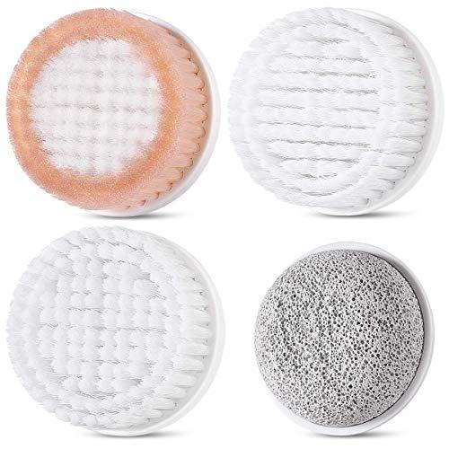 Gesichtsreinigungsbürstenkopf-Ersatz 4PCS für ETEREAUTY 7 in 1 Wasserdichte Körper-Gesichtsbürste