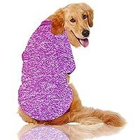 ペット 犬服 3XL-9XLビッグ犬の服冬大型ペット服ゴールデンレトリーバー犬のコート犬のペットコスチュームのための固体スウェットシャツ 犬のアパレル (Color : Purple, サイズ : 6XL)