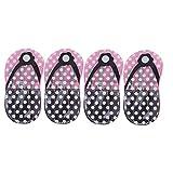 Hemoton Set de 4 juegos de manicura rosa pedicura para uñas de los pies, cortaúñas de cutículas, kit de cortaúñas en forma de flop, bolsa de almacenamiento para uñas de los pies (4 piezas en 1 juego)