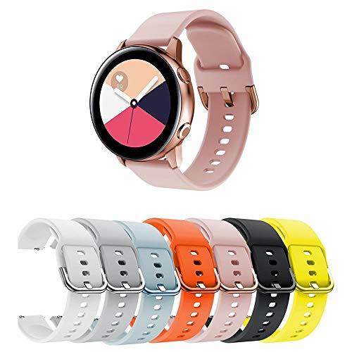 Pulseira Moderna para Samsung Galaxy Watch Active 40mm - Gear S2 Classic - Gear Sport R600 - Galaxy Watch 42mm - Amazfit Bip - Marca Ltimports (Rose)