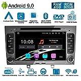 Ohok Android 9.0 Autoradio 2 Din pour Peugeot 308 2008 2009 2010 Stéréo Unité de tête 4G+32G 8 Core Sat Nav avec Lecteur DVD...