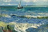1art1 Vincent Van Gogh - Das Meer Bei Saintes- Maries-de-la-Mer, 1888 Selbstklebende Fototapete Poster-Tapete 180 x 120 cm