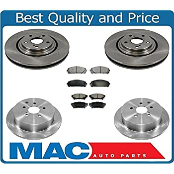 09 BMW 328i w//312mm Front Rotor Dia OE Replacement Rotors w//Ceramic Pads F