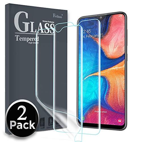 Ferilinso Schutzfolie Kompatibel mit Samsung Galaxy A20E / Huawei Y5 2019 / Honor 8S Schutzfolie,[2 Pack] Ersatz-Bildschirmschutzfolie High Sensitive Full Coverage 3D PET Flexible TPU-Folie