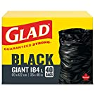 Glad Black Garbage Bags - Giant 178 Litres - 40 Trash Bags
