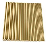 Sutemribor Brass Round Rods Bar Assorted Diameter 2-8mm for DIY Craft (21 PCS)