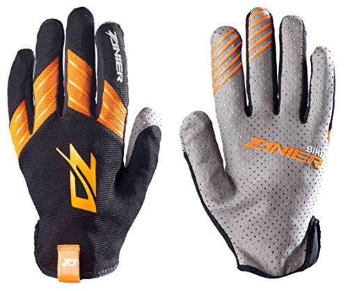 Zanier Erwachsene Shredder Handschuhe, Schwarz/Orange, XXL