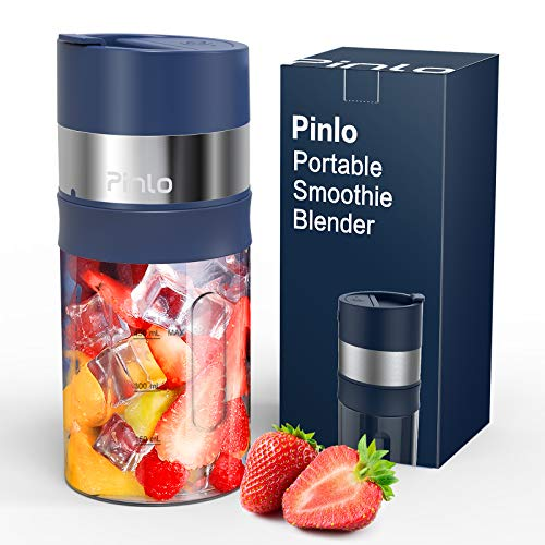 Portable Blender, Personal Size Blender for Shakes and Smoothies, USB Rechargeable Ice Crushing Smoothie Blender, 85 W Mini Blender with 6 Blades, 15...