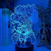テーブルランプ 図3D夜ライトアニメハンター×ハンターナイトライト子供用寝室装飾照明子供ギフトランプベッドサイド (Color : 16 color with remote)
