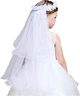 Girls first holy communion headpiece with flowers Wedding...