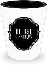 The True Gentleman Shot Glass Art Deco Look Sae Classy Elegant Birthday Gift Idea Ceramic White 1.5 ounces
