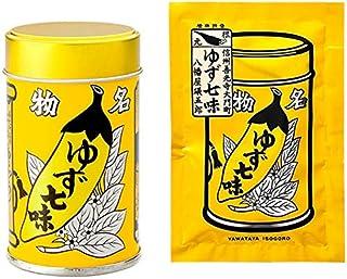 八幡屋礒五郎 ゆず七味 1缶・1袋セット