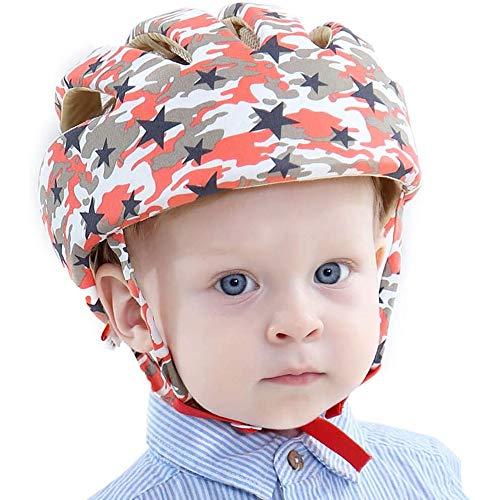 IULONEE Casco de protección para bebé, gorra protectora para cabeza de bebé, gorra de algodón ajustable(Coloreado)