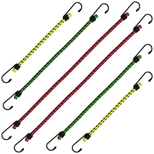 Savage Island Corde Elastiche Bungee Resistenti 4 con Ganci Rivestiti in plastica