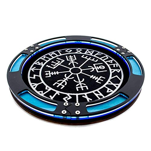 C4Labs Round Dice Tray~Norse Compass for Gaming