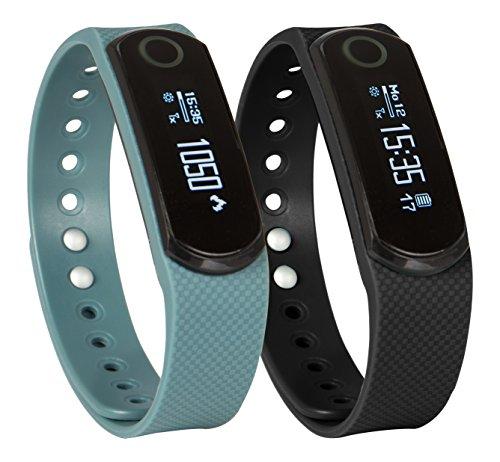 SportPlus Q-Band EX / Q-Band HR mit Herzfrequenzsensor, Smartwatch, Aktivitäts-/Schlaftracker, OLED Display für iOS und Android