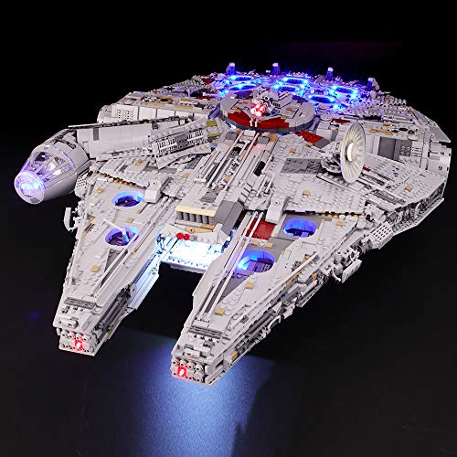 Briksmax Led Lighting Kit for Star Wars Ultimate Millennium Falcon - Compatible with Lego 75192 Building Blocks Model- Not Include The Lego Set