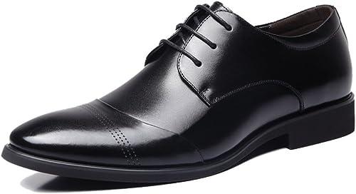 XUE Herren Business Schuhe Mikrofaser Frühling Herbst Komfort Oxfords Wanderschuhe Split Joint Lace-up für Casual Größe Größe Schuhe Schwarz Braun