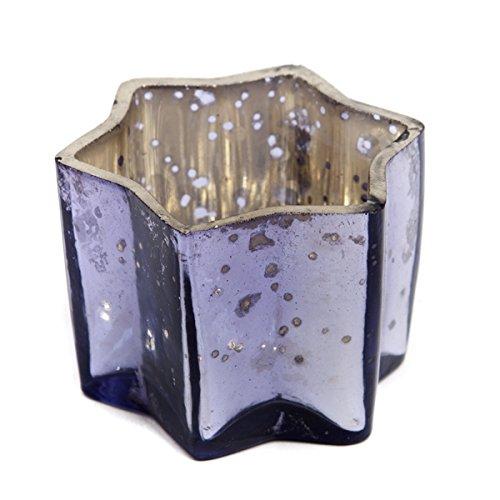 Insideretail Wedding Teal Ight Holders, Vetro, Lilac, 7x 7x 7cm, 48unità