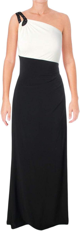 Lauren Ralph Lauren Womens One Shoulder Party Evening Dress