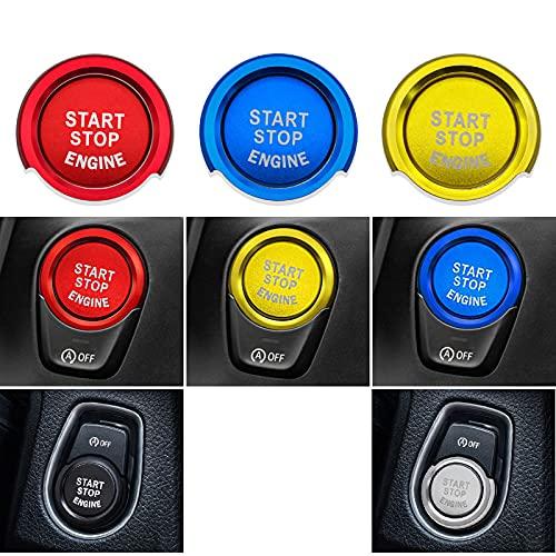 Arranque con un botón, Carcasa de Anillo de Arranque y Parada de Encendido del Motor de Estilo de Coche, para Cubiertas de Interruptor de decoración de botón BMW F20 F21 F30 F31 F10