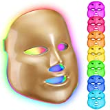 Led Face Mask 7 Color Photon Blue Red Light Therapy <span class='highlight'>Skin</span> Rejuvenation Facial <span class='highlight'>Skin</span> <span class='highlight'>Care</span> Mask (gold)
