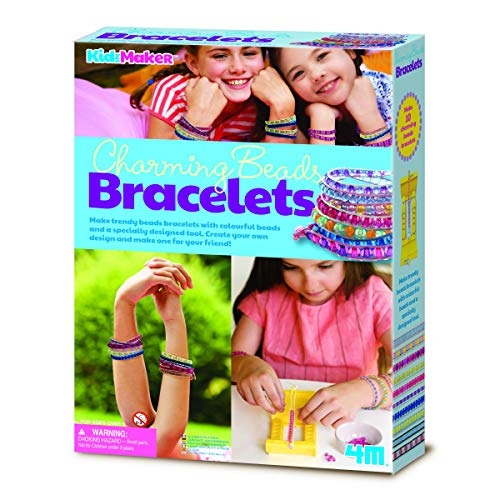 For Ages 5+ Charming Bead Bracelets Beginners Design & Create Make Your Own Hobby Arts & Crafts For girl girls Childrens childs Christmas Xmas Birthday Party Stocking Filler number 1 one gift present