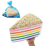 Tenlacum Enorme Shortcake fácilmente aplastado Jumbo 28*15*20CM suave lento aumento con embalaje colección regalo juguete gigante