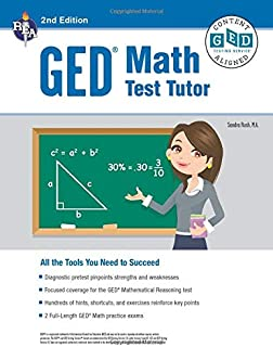 GED® Math Test Tutor, For the 2021 GED® Test, 2nd Edition (GED® Test Preparation)