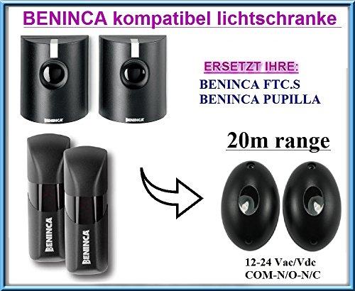 Beninca FTC.S / Beninca PUPILLA kompatibel lichtschranke, paare von äußere universale Fotozellen / Infrarot IR Sicherheit Sensor 12 -24 Vac/Vdc, NO/NC. Reichweite: bis 20m!!!