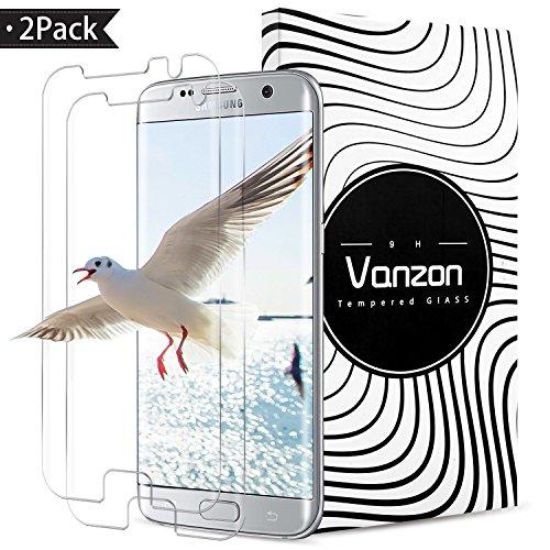ONSON Galaxy S7 Edge Panzerglas Schutzfolie, [2 Stück] Displayschutzfolie für Samsung Galaxy S7 Edge Panzerfolie Displayschutz Gehärtetem Glass 9H Härtegrad, Anti-Kratzen, Einfaches Anbringen