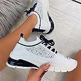 Oceansee Zapatos vulcanizados para Mujer Zapatillas de Deporte para Mujer Zapatos Deportivos al Aire Libre resbalones en Zapatos para Caminar Corriendo Zapatos Casuales de Planos para Mujer Black 35