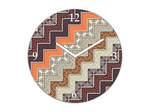 Concept TG10A Wanduhr, dekorativ, mit Silent Sweep, groß, 29,5 cm Oval Vintage Elements