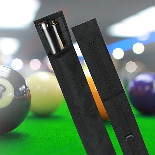 T-best Pool Cue Bag Nylon Pool Cue Biljart Stick Opslag Draagtas 1/2 3/4 Size Zwart (1/2 type)