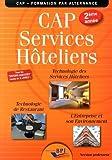 CAP Services hôteliers 2ème année - Professeur by Jean-François AUGEZ-SARTRAL (2014-05-15) - Editions BPI - 15/05/2014