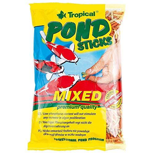 Ração Para Peixe Tropical Pond Sticks Mixed Para Peixes 90g Tropical Para Peixes