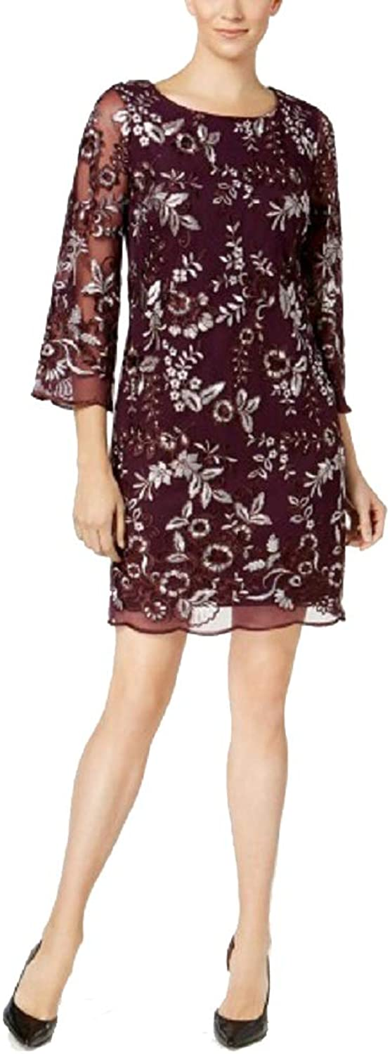 Charter Club Embroidered Illusion Dress