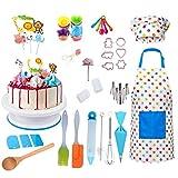 Conjunto de Juego de rol de Chef, Kit de suministros de decoración de pasteles con delantal chef sombrero hornear suministros