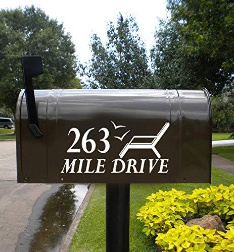 Strandstoel Mailbox Decal Set, Decal voor mailbox, Decal voor deur, Adirondack Stoel Decals, Lake House Decals, Aangepaste Aantal Mailbox Sticker Eenvoudig aan te brengen en verwijderd