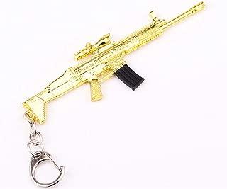 Heyuni.Metal Golden SCAR-L/M4/DSR Gun Rifle Model Action Figure Arts Toys Collection Keychain Gift,Gold Scar-L