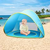 Nequare Pop Up Tent Baby Beach Pool Sun Shelter UV Protection Beach Shade