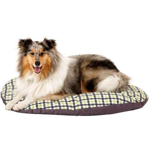 Karlie Flamingo Liegekissen Melrose Oval Hunde Kissen Bett Schlafplatz Liegebett in 7 Größen, Größe:70 x 56 x 8 cm