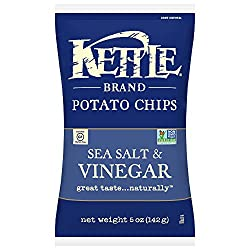 Kettle Brand Potato Chips, Sea Salt & Vinegar, 5 Ounce Bag