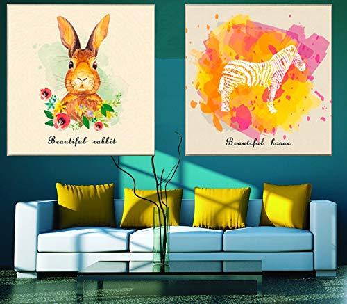 Nordic Quote Poster schöne Tierwelt ölgemälde leinwand Kunst Bild kinderzimmer Dekoration rahmenlose malerei 50 cm x 50 cm