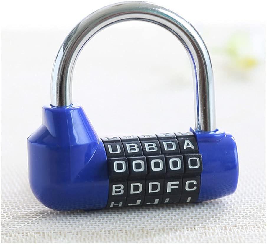 WNAVX Key Padlock 5 Letter Suitcase Combination Code Password Lo Las Vegas Mall safety