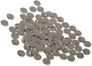 SUPVOX 100pcs Stainless Steel Blank Tag Flat Round Pendant Charms for Jewelry Making DIY Crafting (25mm)