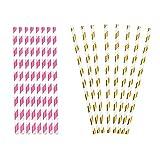 JZJZ Pajitas desechables de papel 50 unidades, pajita de rayas de colores para Mason Jar, Vidrio,...