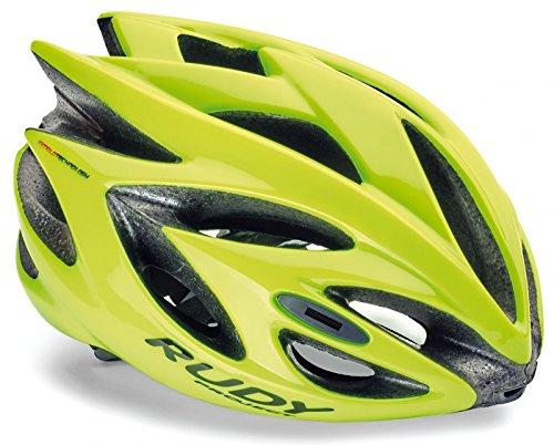 Rudy Project Rush Helmet Yellow Fluo (Shiny) Kopfumfang 54-58cm 2018 Fahrradhelm